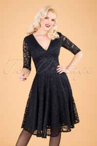 Vintage Chic 32534 Swingdress Navy Lace 09302019 040MW