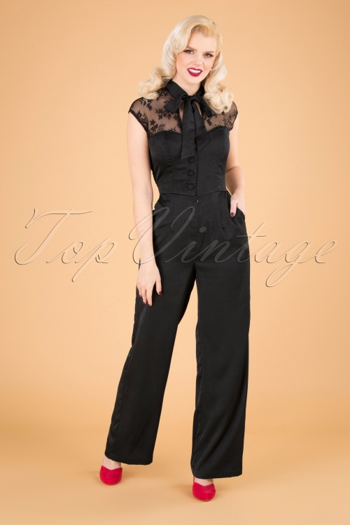 Vixen 30943 Jumpsuit Bianca Black Lace Satin 10012019 040MW
