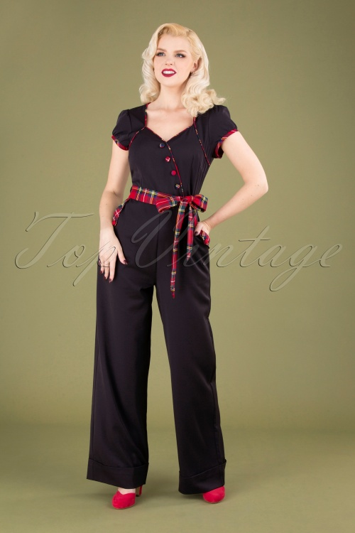 Vixen 30944 Jumpsuit Vanessa Black Checked 09042019 040MW