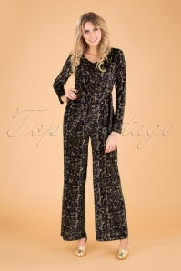 70s Tanzania Swan Jumpsuit in Navy