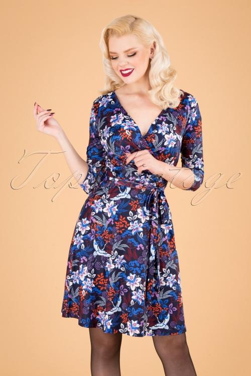 Yumi 29776 Swingdress Blue Floral Autumn 09092019 040MW
