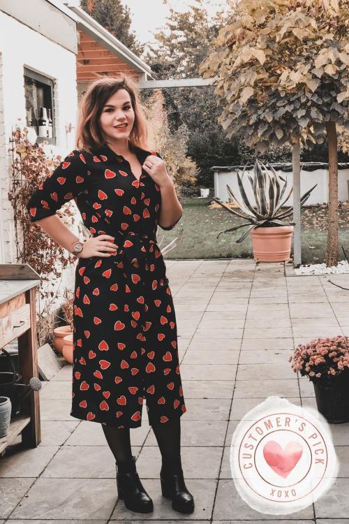 Compania Fantastica 30312 Heart Print Dress 20191014 00010 cuppykirsten CP