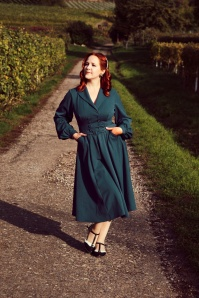 Miss Candyfloss 31044 Swingdress Teal 07172019 000008 Vintaliciously