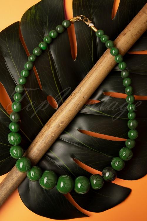 Splendette 32466 Green Fern Fakelite Necklace Beads 20191030 003W