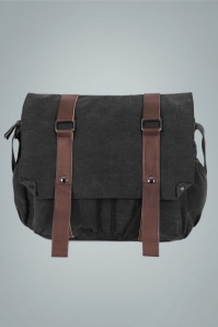 50s Roger Messenger Bag in Black