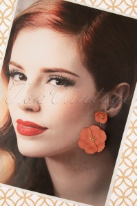 Louche 30059 Earrings Bezer Floral Gold Terracotta 11042019 011 W