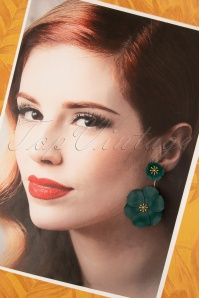 Louche 30060 Earrings Bezer Floral Gold Green 11042019 011 W