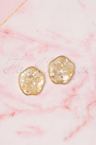 50s Perida Stud Earrings in Gold