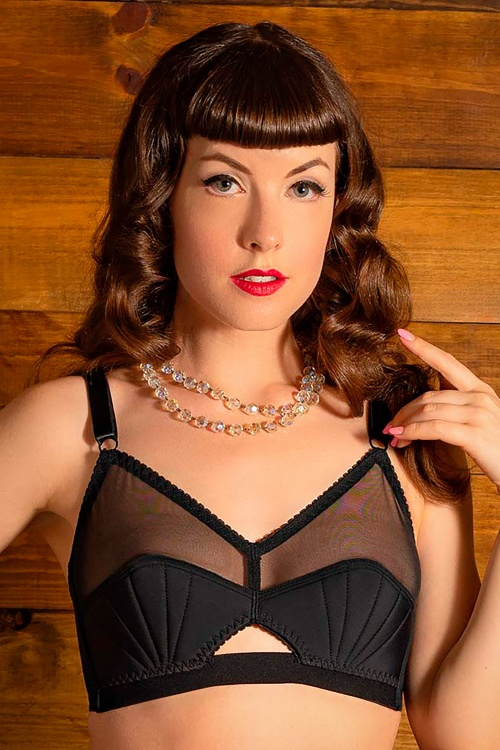 What Katie Did 32510 Bra Retro Liz in Black 20191030 021L W