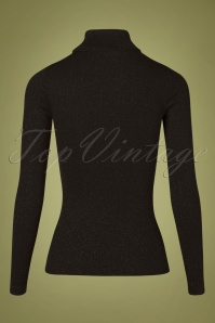 King Louie 29391 Top Rollneck Black Glitter 11052019 009W
