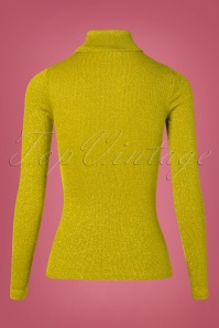 King Louie 29392 Top Rollneck Curry yellow Glitter 11052019 009W