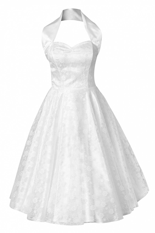 50s Halter Wedding Dress