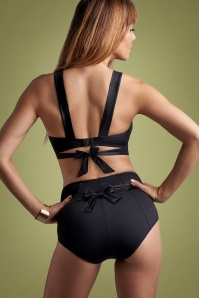 50s Cache Coeur High Waist Briefs in Black