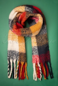 Louche 30068 Scarf Oreb Multi Checked 11042019 004W