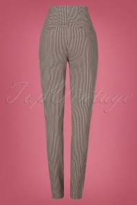 Miss Candyfloss 31042 Trousers Brown Tartan 07112019 000012W