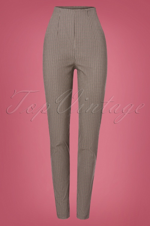 Miss Candyfloss 31042 Trousers Brown Tartan 07112019 000007W