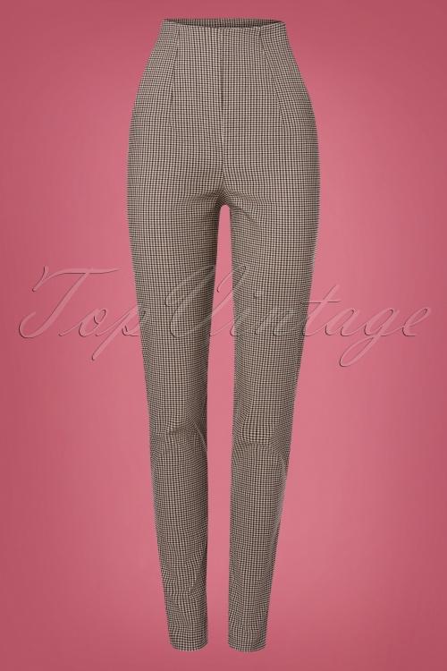 Miss Candyfloss 31042 Trousers Brown Tartan 07112019 000007W