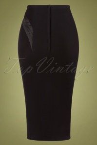 Miss Candyfloss 31047 Pencilskirt Black Satin 11052019 009W