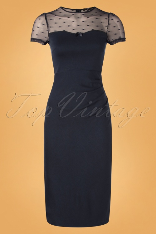 Vive Maria 30089 Blue Midnight Pencil Dress 20191101 0001W