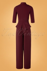 Miss Candyfloss 31032 Jumpsuit Wine 11052019 010W
