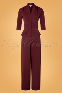 Miss Candyfloss 31032 Jumpsuit Wine 11052019 005W