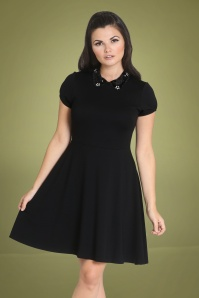 Bunny 60s Harper Dress in Black