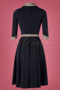 Miss Candyfloss 31029 Swingdress Navy 07102019 0007W