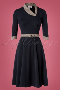 50s Yedda Swing Dress in Navy