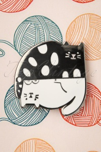 Punky Pins 32939 Pin Cats Grey White Upsidedown Dots 11042019 002W