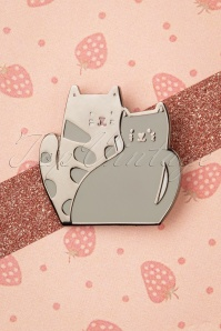 Punky Pins 32942 Pin Cats Grey Cuddle 11042019 009W