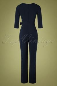 Vintage Chic 31152 Jumpsuit Navy 11052019 008W