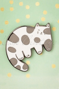Punky Pins 32943 Pin Cat Smile Dots White 11042019 006W
