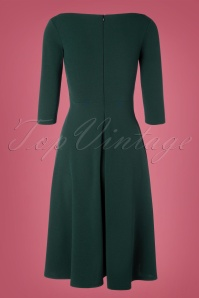 Vintage Chic 32677 Swingdress Green Forest Buttons 11052019 005W