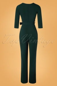 Vintage Chic 31151 Jumpsuit Forest Green 11052019 008W