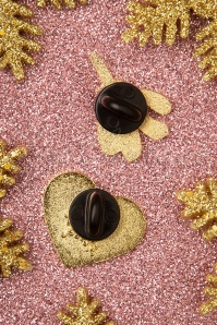 Punky Pins 32874 Pin Mistletoe Heart Wine Gold 11042019 004W