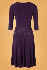 Vintage Chic 32799 Swingdress Silky Purple Plain 11052019 007W