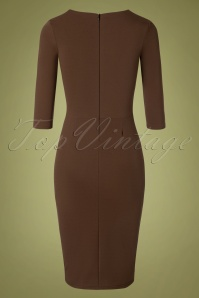 Vintage Chic 32732 Pencildress 50s Denise Brown 11052019 006W