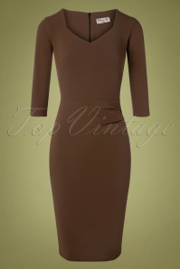 Vintage Chic 32732 Pencildress 50s Denise Brown 11052019 002W