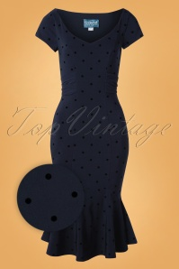 Collectif 29905 Pencil Navy Jamilia Dots 11062019 002Z