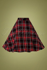 Bunny 32483 Swingskirt Islay 50s Checked Black 11062019 003W