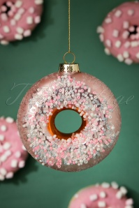 Sugar Coated Donut Bauble in Pink