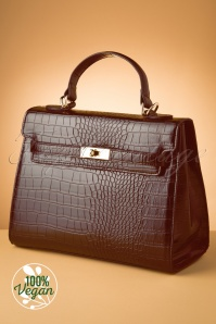 Charlie Stone 33062 Bag Croco Versailles Brown Red 20190812 003 W vegan