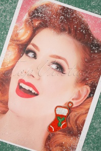 Darling Divine 31357 Earrings Socks Christmas Red White Beads 20191108 016 W