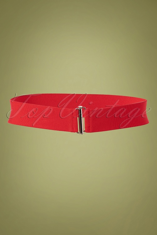 Collectif Billie Cinch Belt Red 1 W
