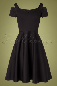 Bunny 50s Helen Swing Dress in Black
