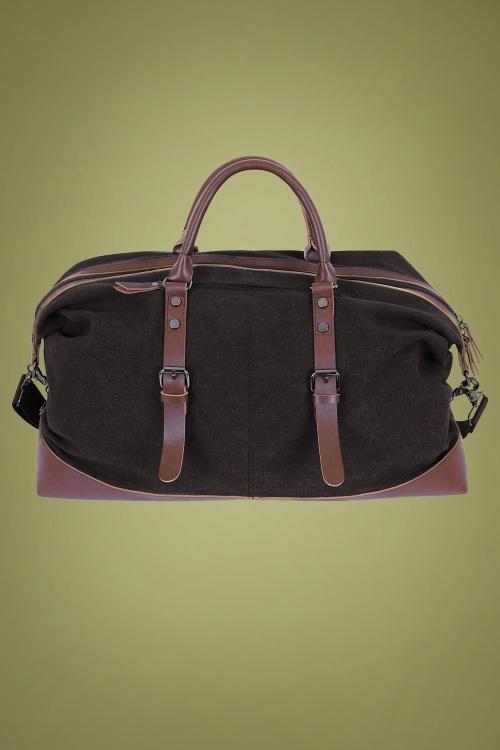 Collectif 31626 Nigel Weekend Bag Black 20191105 021L W