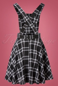 Bunny 32481 Swingdress Islay Pinafore Black White 11112019 008W