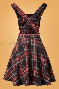 Bunny 32482 Swingdress Islay Pinafore Red Black 11112019 008W