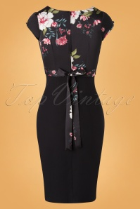 Stop Staring 32357 Pencildress 50s Skyla Floral Black 11112019 011W
