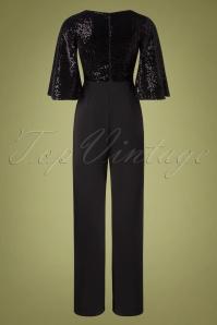 Vintage Chic 32406 Jumpsuit Black Glitter 11112019 013W
